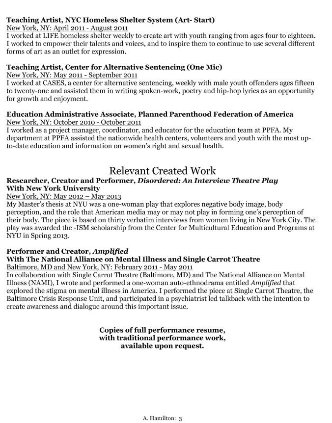Microsoft Word - Ashley Hamilton CV.doc